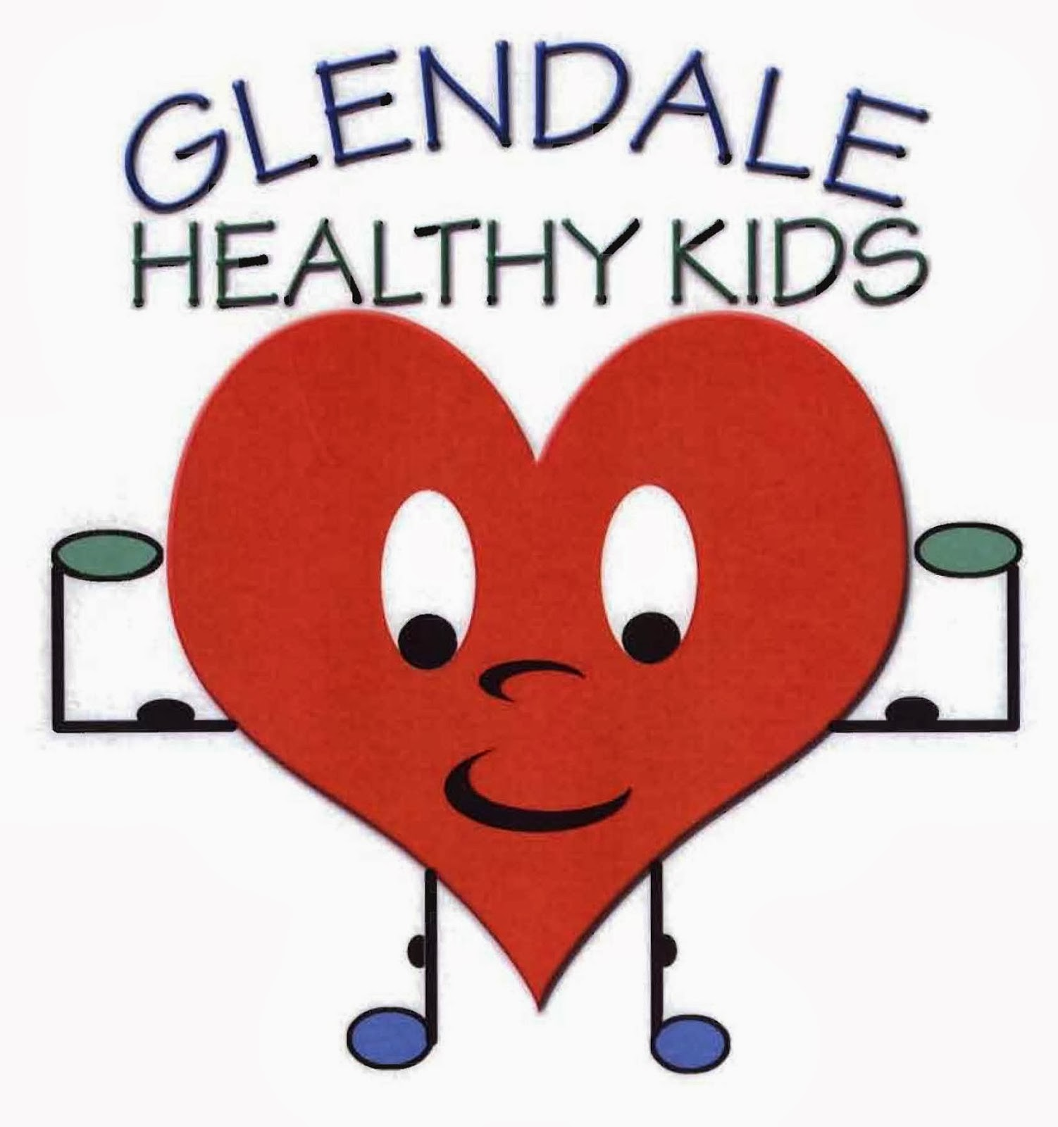 Glendale Healthy Kids Logo, Flexing heart