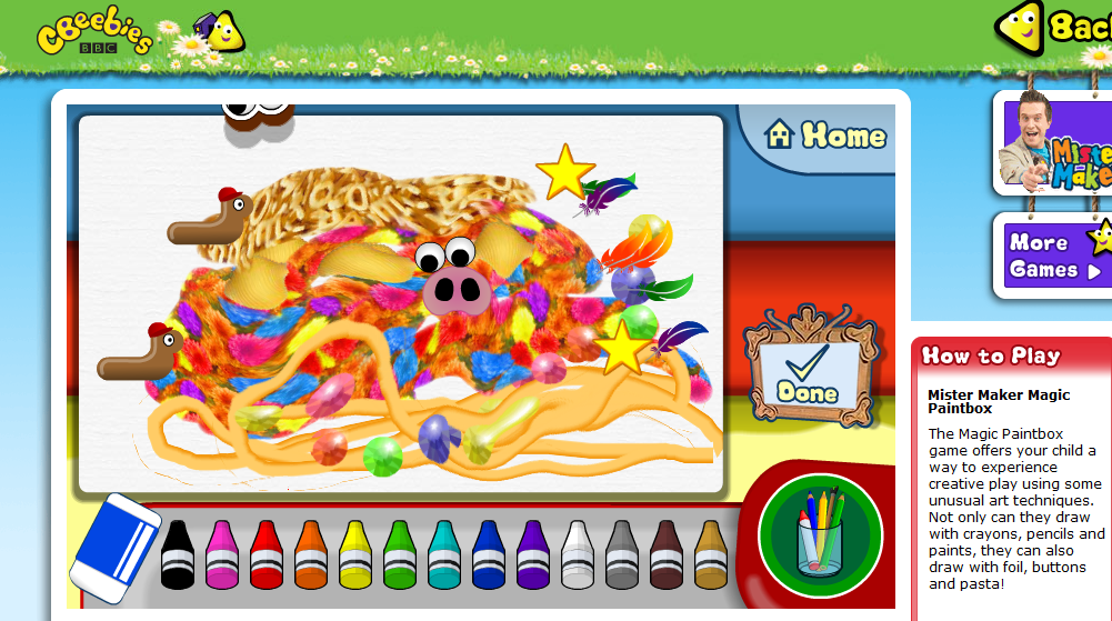 Vines Online: Summer Fun-Mister Maker Magic Paintbox