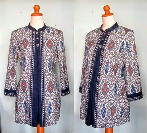 Gambar desain model baju batik khusus untuk wanita hamil terbaru