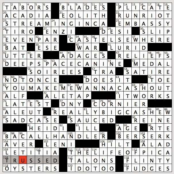Rex parker does the nyt crossword puzzle whale for Soil 8 letters crossword clue
