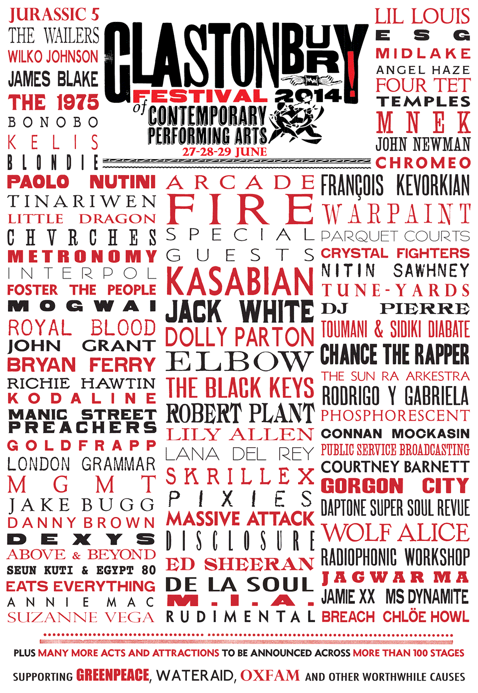 Glastonbury, Festival, 2014, line up