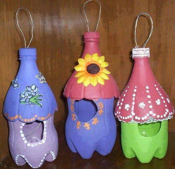 Reciclar Botellas De Plastico Decoracion ~ Reciclar, Reutilizar y Reducir  Manualidades con botellas de