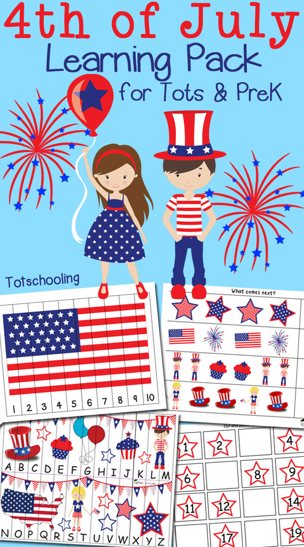 FREE 4th of July Pack for Tots & PreK