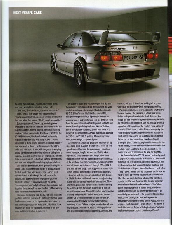 Mazda 626, Capella, GF, MPS, KL-ZE V6, twin turbo, japoński sportowy sedan, zdjęcia, galeria, motoryzacja, ciekawostki