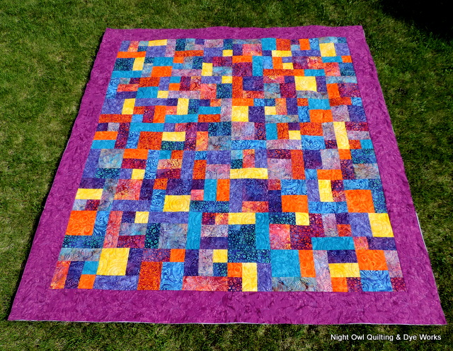 Free Quilt Pattern For Yellow Brick Road : Night Owl Quilting & Dye Works: Winners & Bright Batik Yellow Brick Road
