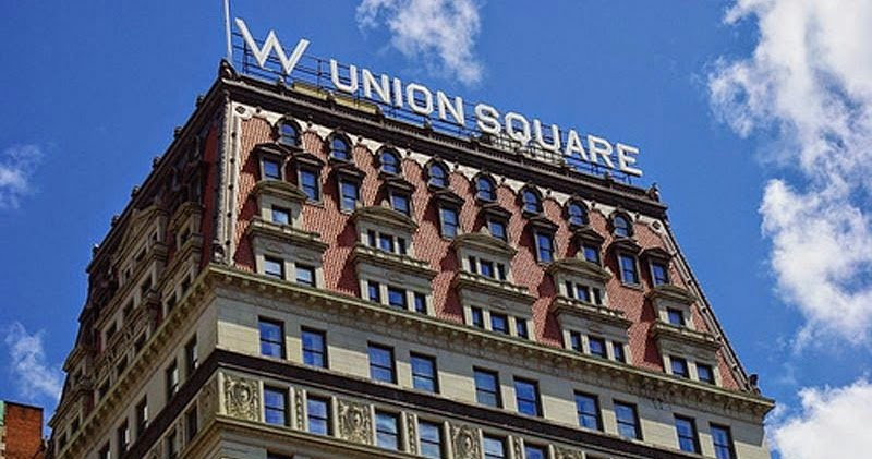 Luxury hotels w new york union square - The living room at the w union square ...