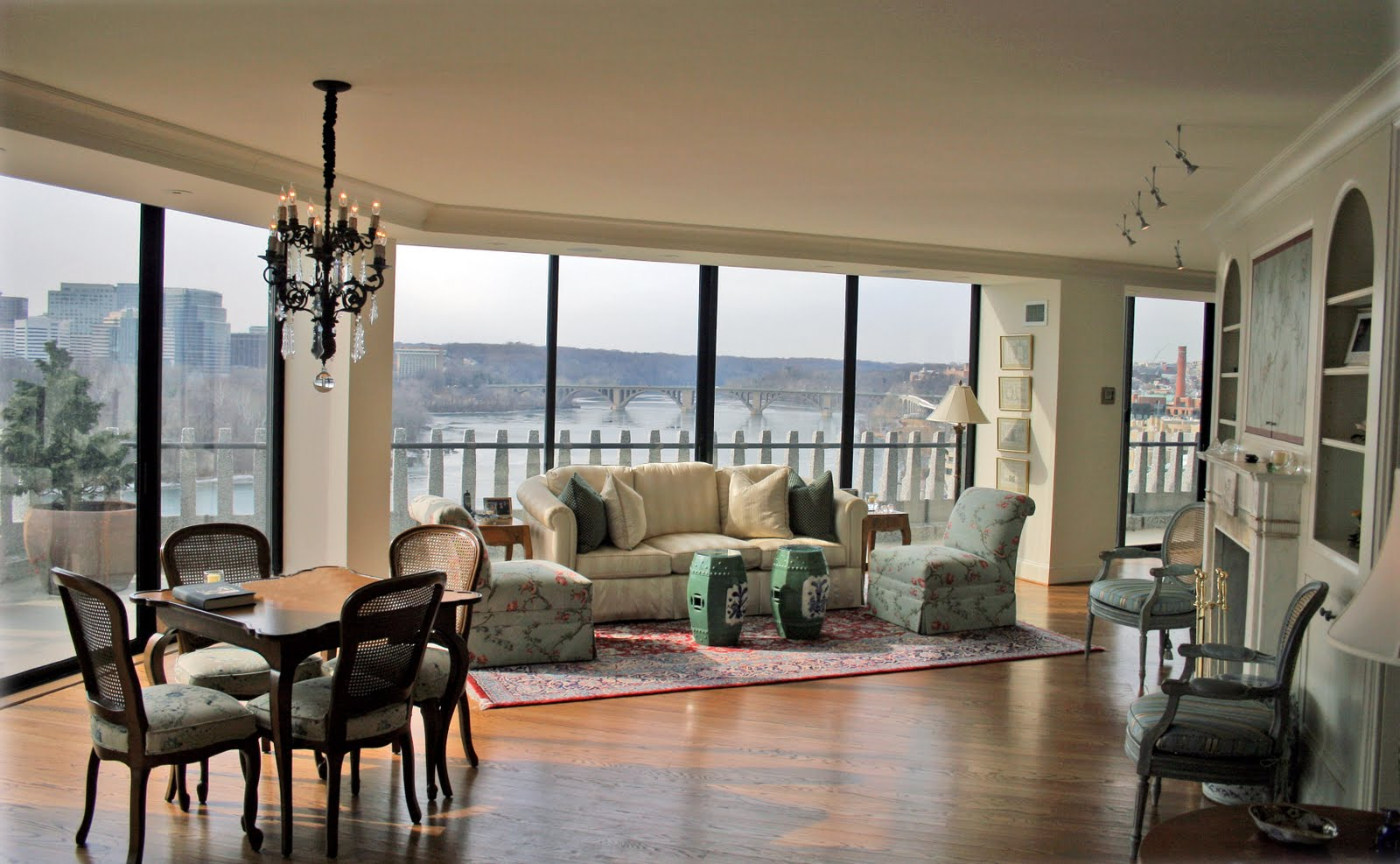 environs that would have qualified as very feminine and country french to a style that was little more elegant with an eye to more home entertaining - Cork Apartment Design
