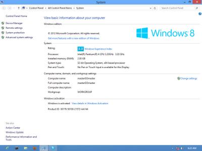 Windows 8 Profesional 32 64 bit Tampilan baru