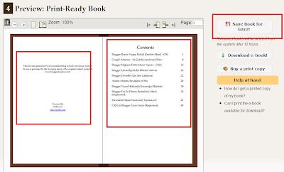 Blogger E-Kitap Yapmak
