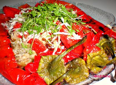 sveža zelišča, recept pečena paprika, receptura pečena paprika, kuharski blog