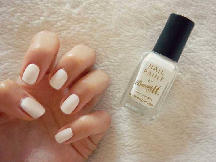 Love From Lisa Fresh White Nails Barry M