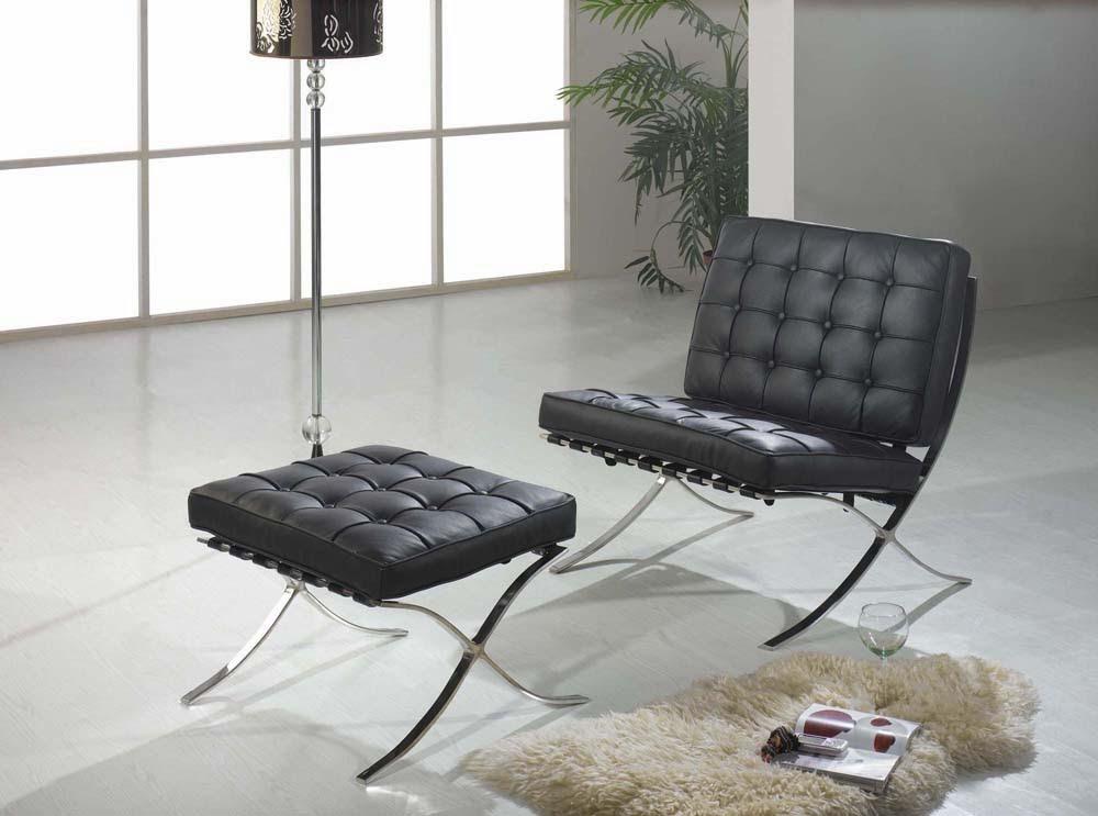 fauteuil noir Barcelona