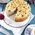 Ricotta-Mohnkuchen mit Zwetschgen und Zimtstreuseln