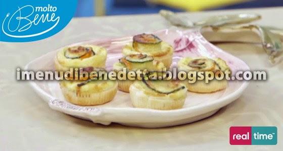 Mini Quiche alle Verdure di Benedetta Parodi