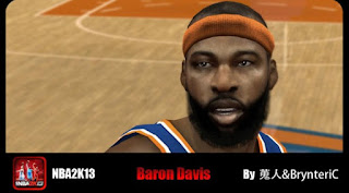 NBA 2K13 Mods Baron Davis Cyber Face