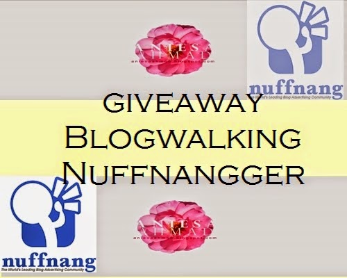 GIVEAWAY BLOGWALKING NUFFNANGGER