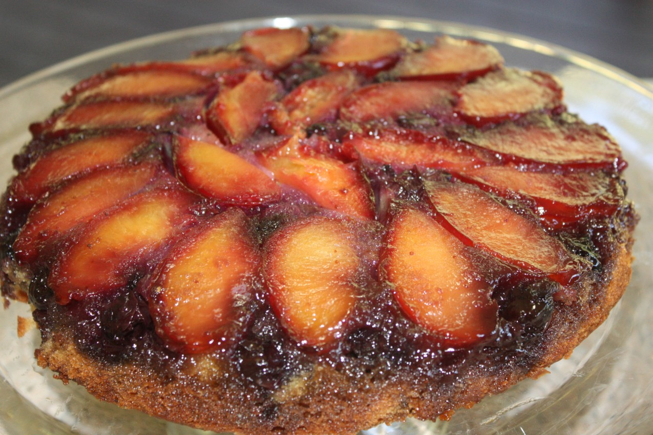 pass the peas, please: plum blueberry upside-down cake