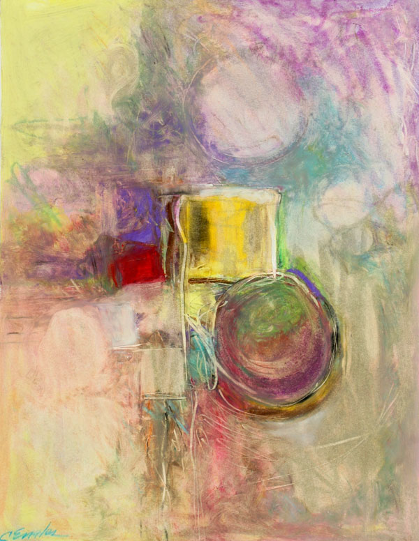 Carol Engles Art: Summer Cityscape Four, abstract oil ...