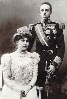 Ena y Alfonso XIII.