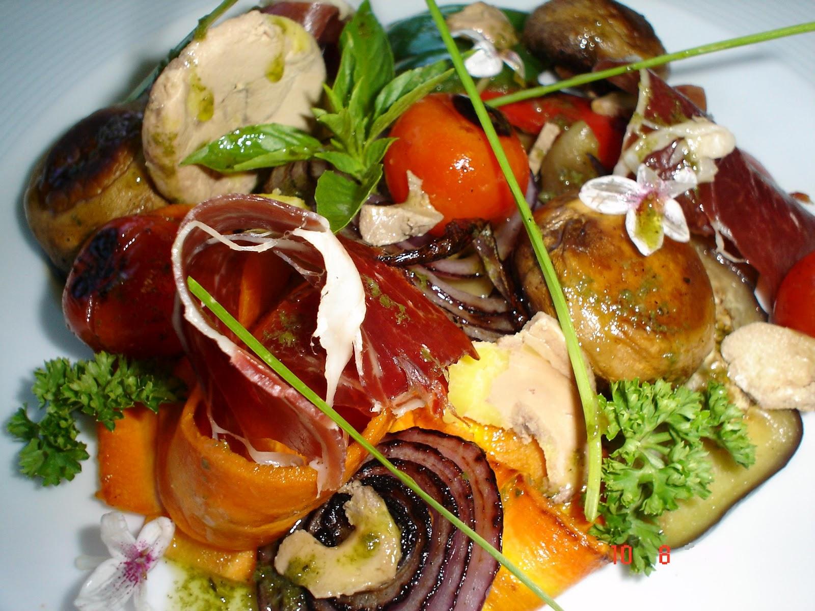 Cocinero por el mundo parrillada de verduras con jam n for Parrillada verduras