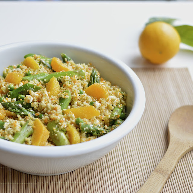 Spring Couscous Salad with a Citrus Vinaigrette | Virtually Homemade ...