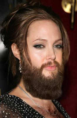 Celebrity Woman with Beard