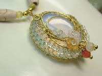 How to Wire Net Bezel Opal Necklace