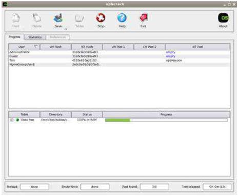 Mengatasi Lupa Password Windows dengan Software Ophcrack