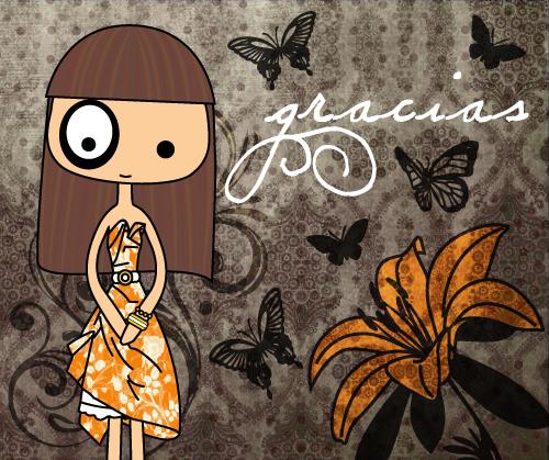 ilustración original foltys: gracias (100% handmade with ♥)