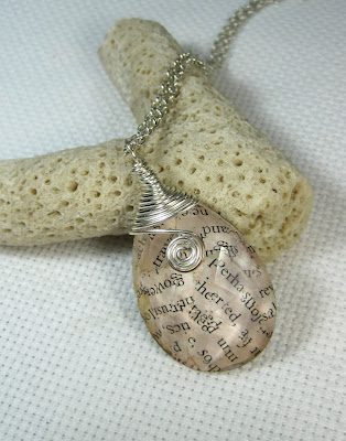 Wire Wrapped Text Pendant