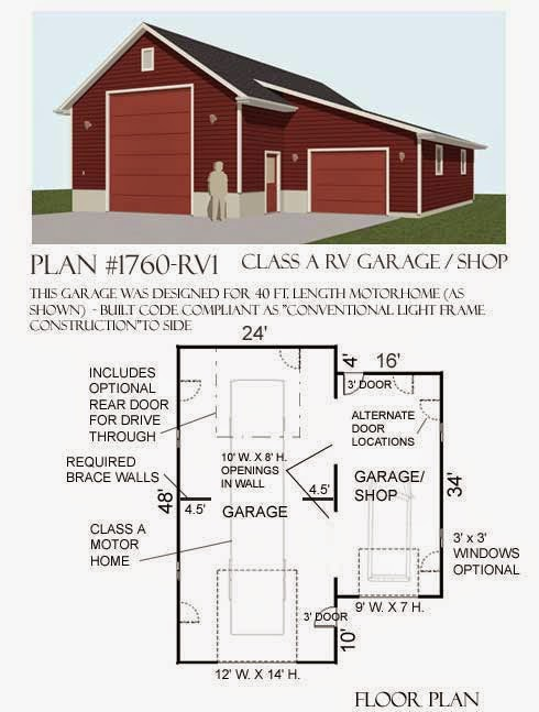 Garage plans blog behm design garage plan examples for Rv garage plans and designs
