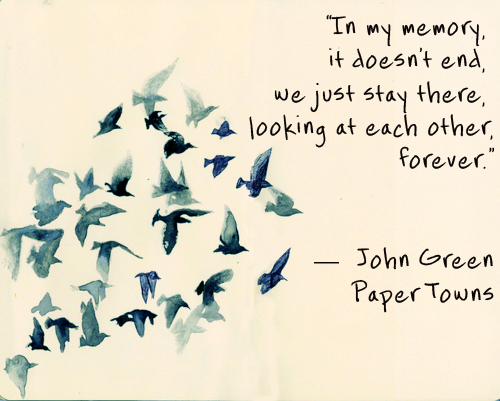Consider, Paper towns john green commit error