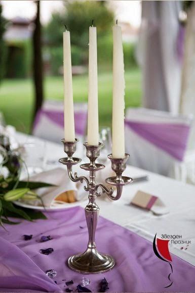 Сватбена декорация за маса