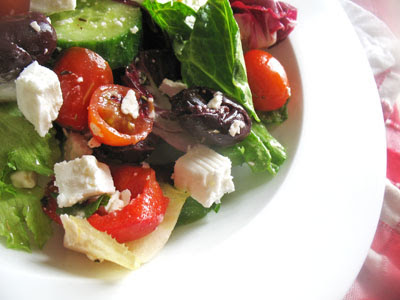 vegetarian Greek salad