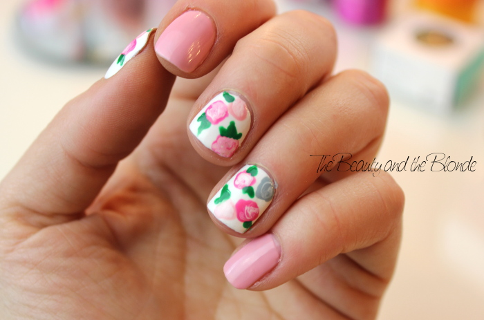 Floral Nail Art, Flowers, Nailpolish, essence, KIKO,
