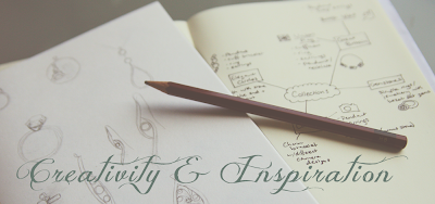 Creativity and inspiration - brainstorming and sketches