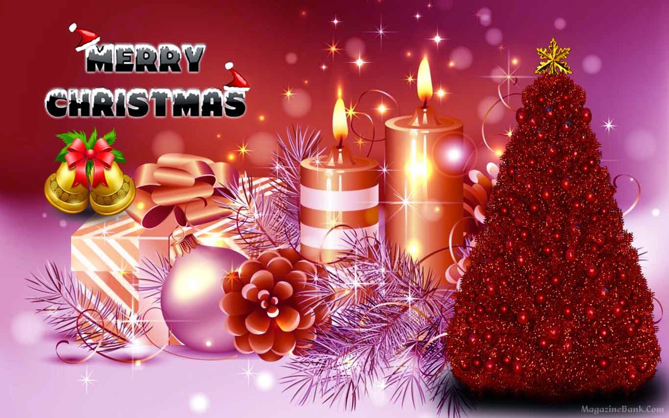 Happy Merry Christmas & Happy New Year Wishes Wallpapers