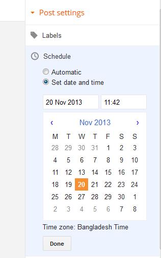 সিডিউল পোস্ট,schedule post,schedule