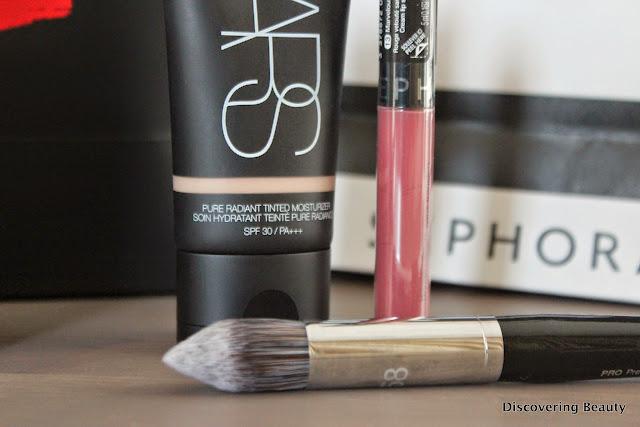 NARS tinted moisturiser, Sephora Cream Lip Stain, Sephora Airbrush