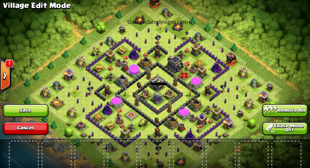 Th9 Home Base Design Part - 45: Dark Elixir Protected Base