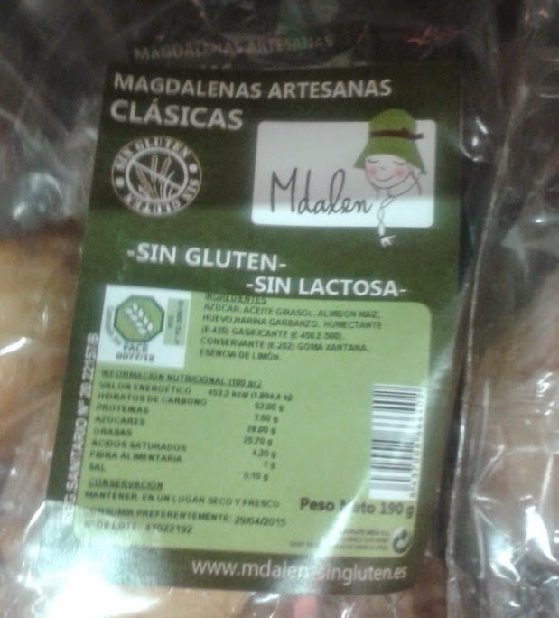 Sin Gluten and Sin Lactosa Magdalenas by Mdalen Sin Gluten. Sin Gluten (aka Gluten Free) food from Spain
