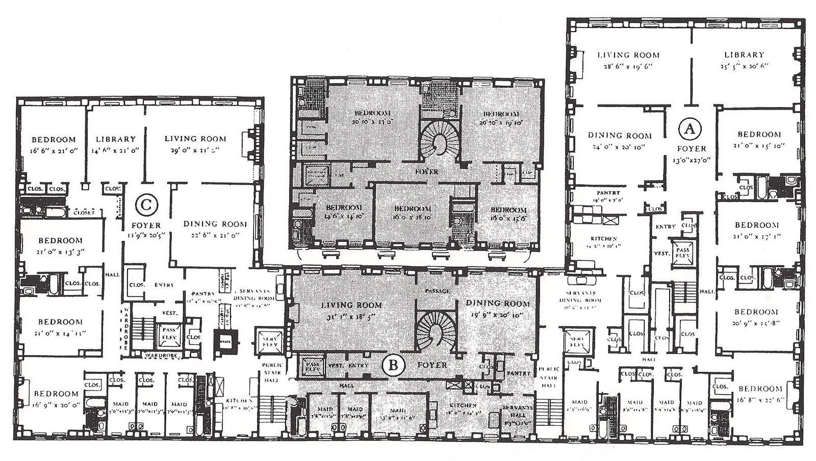 The devoted classicist one sutton place south for Floor plans manhattan apartment buildings