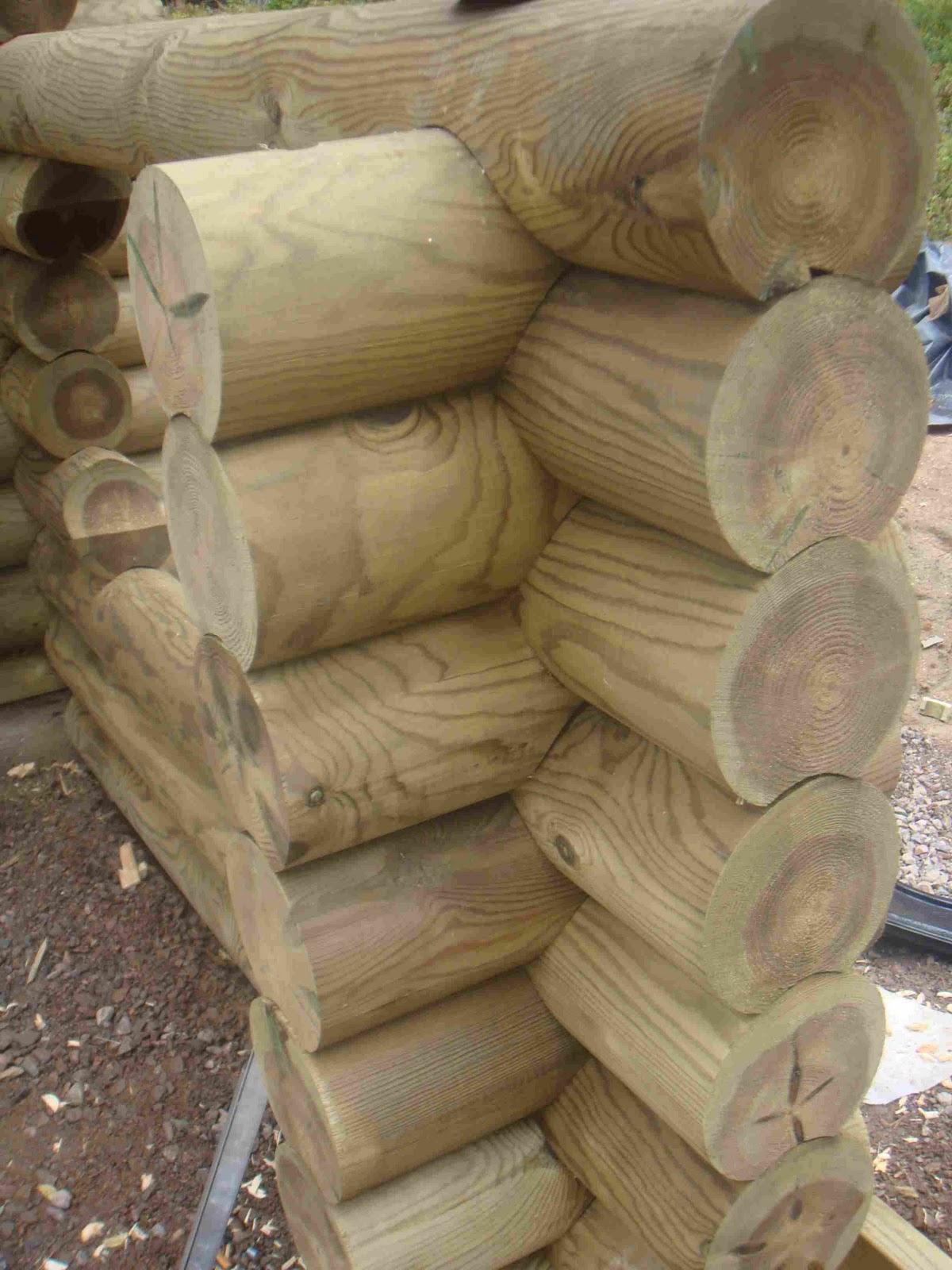 case in legno prefabbricate: Case in legno, sezioni tronchi tondi e ...