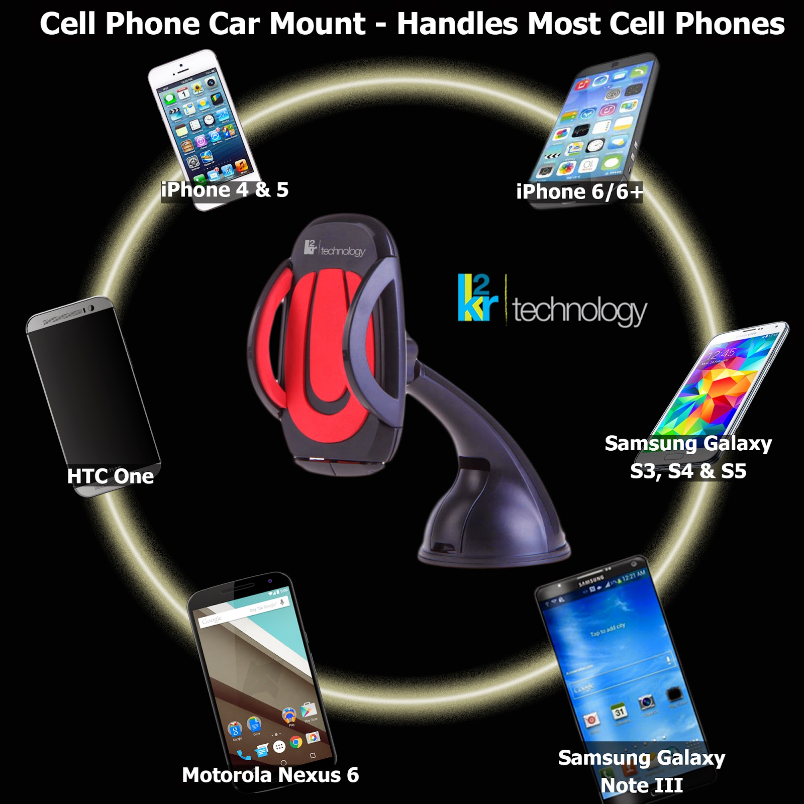 car mount, giveaway, K2R, Cell phone, review