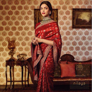 Deepika Padukone being routinely breathtaking in the Sabyasachi For Nilaya campaigna