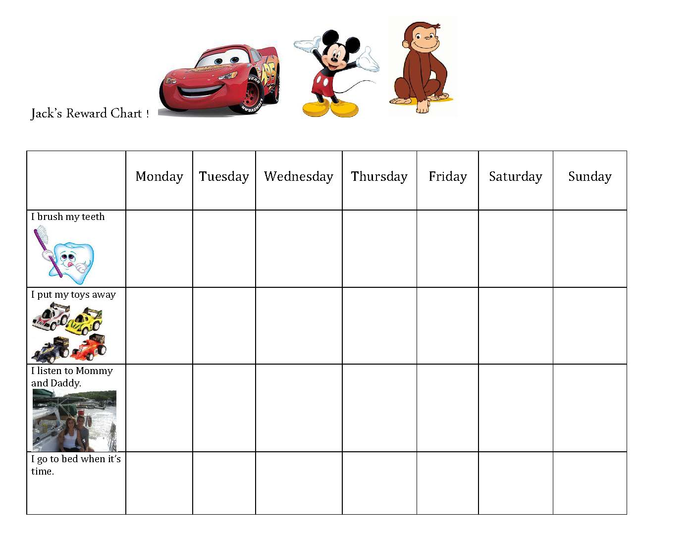 with reward charts and behavior plans so i made one for jack and it ...