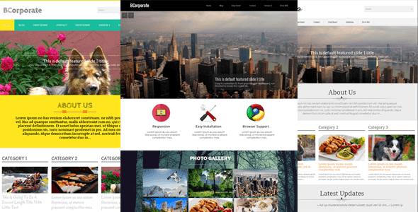 BCorporate v1.0 Responsive Blogger Template