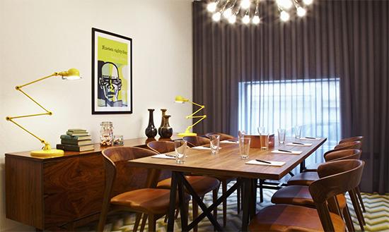 hoxton, sala de jantar, sala de jantar vintage, amarelo, decoracao, tapete