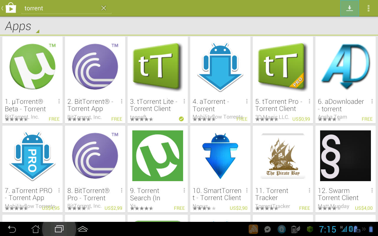 Top 5 Best Torrent Apps For Android smart phones-referguru