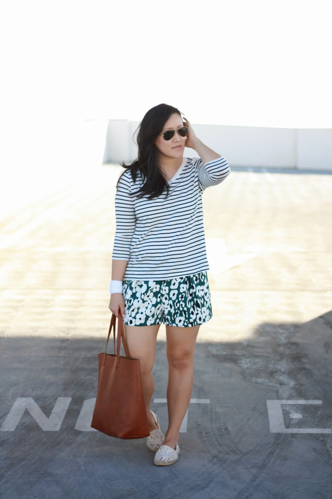 simplyxclassic, zara, stripes and floras, rayban, madewell, made well, socal, southern california blogger, blogger, orange county,